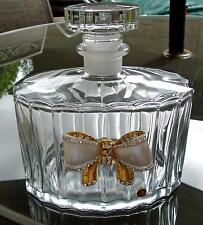 DECANTER PERFUME OR LIQUER MOST BEAUTIFUL PIECE OF BEAUTY - GLASS   -STUNNING