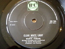 "WISHFUL THINKING - CLEAR WHITE LIGHT   7"" VINYL"