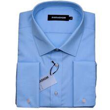 "Paradigm Pure Cotton Non-Iron DC Formal Shirt/Blue - 18.5"" SRP £55.00"