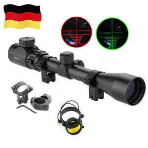 3-9x40EG Zielfernrohr für Armbrust Luftgewehr Jagd Rifle Scope Montagen 11mm DHL