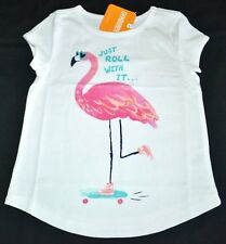 Gymboree Mix N Match Pink FLAMINGO Just Roll With It Shirt S 5 6 Kid Girls NWT