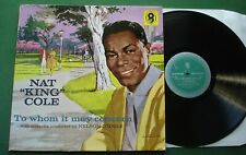 Nat King Cole To Whom It May Concern Conducted by Nelson Riddle T661 LP