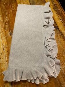 Ralph Lauren Home - Whitney 100% Cashmere Throw Blanket - Light Grey - 60x60