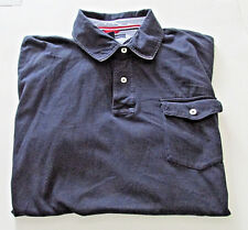 Tommy Hilfiger Mens Polo Shirt XXL Navy Cotton Flag Logo Short Sleeve H 2012