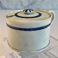 Early Creamware Pearlware Feather Edge Mustard Condiment Pot 1790-1800