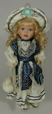"""16"""" Belamore Porcelain Doll DIANA With Hat, Stand And Original Box"""