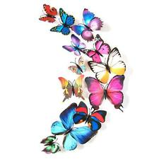 12pcs Decal Wall Stickers Home Decorations 3D Butterfly Colorful V2