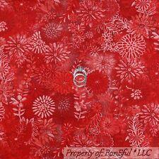 BonEful Fabric Cotton Quilt VTG Red Maroon Pink Burgundy Flower Toile Tone SCRAP