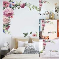Wall Sticker Rose Peony  Flower Art Home Decor Nursery Mural Decal