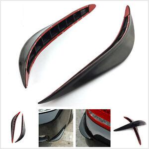 2 Piece Car Bumper Black Anti-rub Strips Exterior Decorative Protector Crash Bar