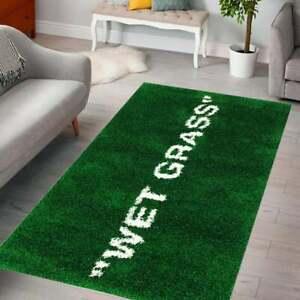 Wet Grass Patterned Rug  Carpet, For Living Room,(3x5 ft)90x150 cm