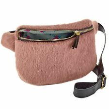NWT Natural Life Pink Furry Fanny Pack