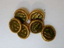 6 ROUND GILT FRENCH BUTTONS, HALLMARKED D'OR ET D'ARGENT, PURCHASED 10 YEARS AGO