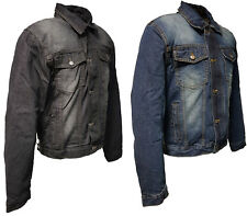 Genuine Roleff Denim Motorcycle Jacket -with protective armour - blue & black -