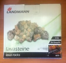 DE CALIDAD Landmann lavasteine Lava Rock para GAS barbacoas CAMPING 3kg A4E su