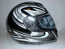 Motorradhelm Germot GM205 Größe S schwarz/grau    NEU