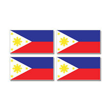 Philippines Country Flag - Sheet of 4 - Window Bumper Stickers