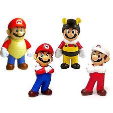Super Mario Game Mini Figure 4 pc Set Banpresto Mario Fire Shell Bee
