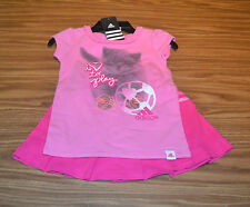 Adidas Girl's 2PC S/S Shirt & Skort Outfit-Heart Pink-4T-NWT