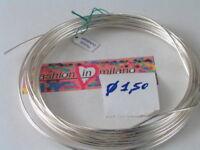 50 cm di filo in argento 925 crudo ( duro ) di 1,5 mm made in italy