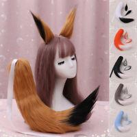 Fox Ears Tail Anime Cosplay Props Spice And Wolf Holo Long Plush Japan Custom CA