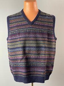 Brooks Brothers Vintage Shetland Wool Sweater Vest * LARGE