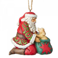 Heartwood Creek Santa with Dog Hanging Ornament by Jim Shore