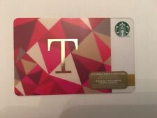 "STARBUCKS Gift Card☕️ ZERO $ BALANC ""Letter T""  2014 LIMITED EDITION (CDN)"