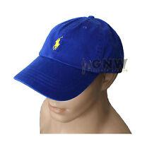 Polo Ralph Lauren Mens Womens Classic Signature Pony Sports Cap Baseball Hat Blue
