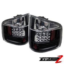 Chevy S10 GMC Sonoma 94-04 *ULTRA BRIGHT LED* Black Tail Lights Rear Brake Pair