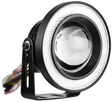 2pcs High Power 3.5 Projector Universal LED Fog Light w/ White COB Halo Angel