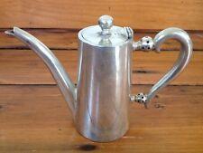 "Vtg Wiskemann Belgium Silver Plated Small Mini Metal Tea Pot Pitcher 5.5"" Tall"
