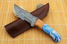 MH KNIVES CUSTOM HANDMADE DAMASCUS STEEL FULL TANG HUNTING/SKINNER KNIFE D-68Z