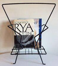 Vintage Mid Century Metal Magazine Rack Book Stand Maurice Duchin Ravenware Era