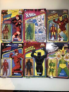 """2021 Marvel Legends Retro 3.75"""" LOT OF 6 Hasbro Kenner"""