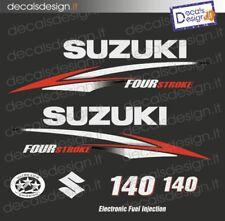 Adesivi motore marino fuoribordo Suzuki 140  four stroke gommone barca stickers