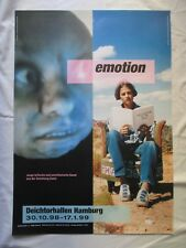Emotion originale vintage esposizione manifesto poster Tony Oursler Tracy Emin 1998