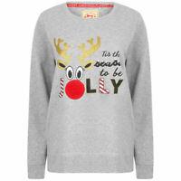 Women's Christmas Jumper Xmas Novelty Sweatshirt Reindeer Jersey Sweater Top
