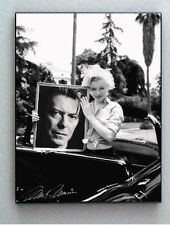 Framed Marilyn Monroe holding David Bowie with faux signed autograph Limited Ed