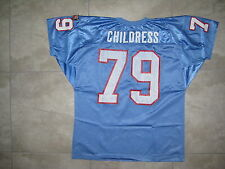 TRUE VINTAGE HOUSTON OILERS RAY CHILDRESS Blue WILSON USED XL Football JERSEY 79