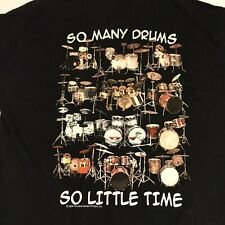 New listing All About The Beat So Many Drums So Little Time Mens L Graphic Tshirt Music