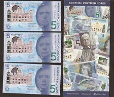 2016 la Scozia £ 5 LB (ca. 2.27 kg) (BANK OF SCOTLAND) ~ rilasciato 04/10 + nota del produttore Opuscolo