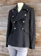 Ralph Lauren Black Label Dark Gray Double Breasted Wool Cashmere Blazer Jacket 4