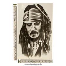 Jack Sparrow Tatuaggio TEMPORARY TATTOO-Pirates of CARRIBBEAN-per braccio & circuizione