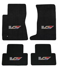 NEW! Black Floor Mats 2009-2014 Cadillac Sedan CTS V Series Flag logo All 4 Mats