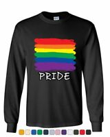Gay Pride Long Sleeve T-Shirt Rainbow Flag LGBT Marriage Love Wins Tee