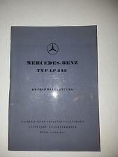 orig. Betriebsanleitung Mercedes Benz Typ LP 333 Ausgabe A 02/1959 top