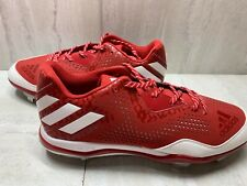 ADIDAS Men's Power Alley 4 Metal Baseball Cleats Q16486 Red White Size 14 NEW