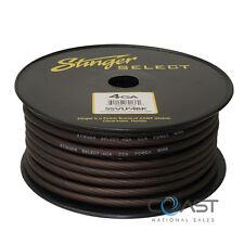 Stinger 4 Gauge Matte Black Power Ground Wire Car Home Audio SSVLP4BK - 50 Ft