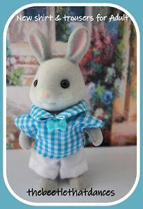 Sylvanian Families Clothes, New Trousers E Shirt & Tie for Adult Cat, Rabbit ETC